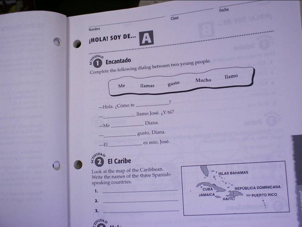 Avancemos 1 Worksheets - Checks Worksheet