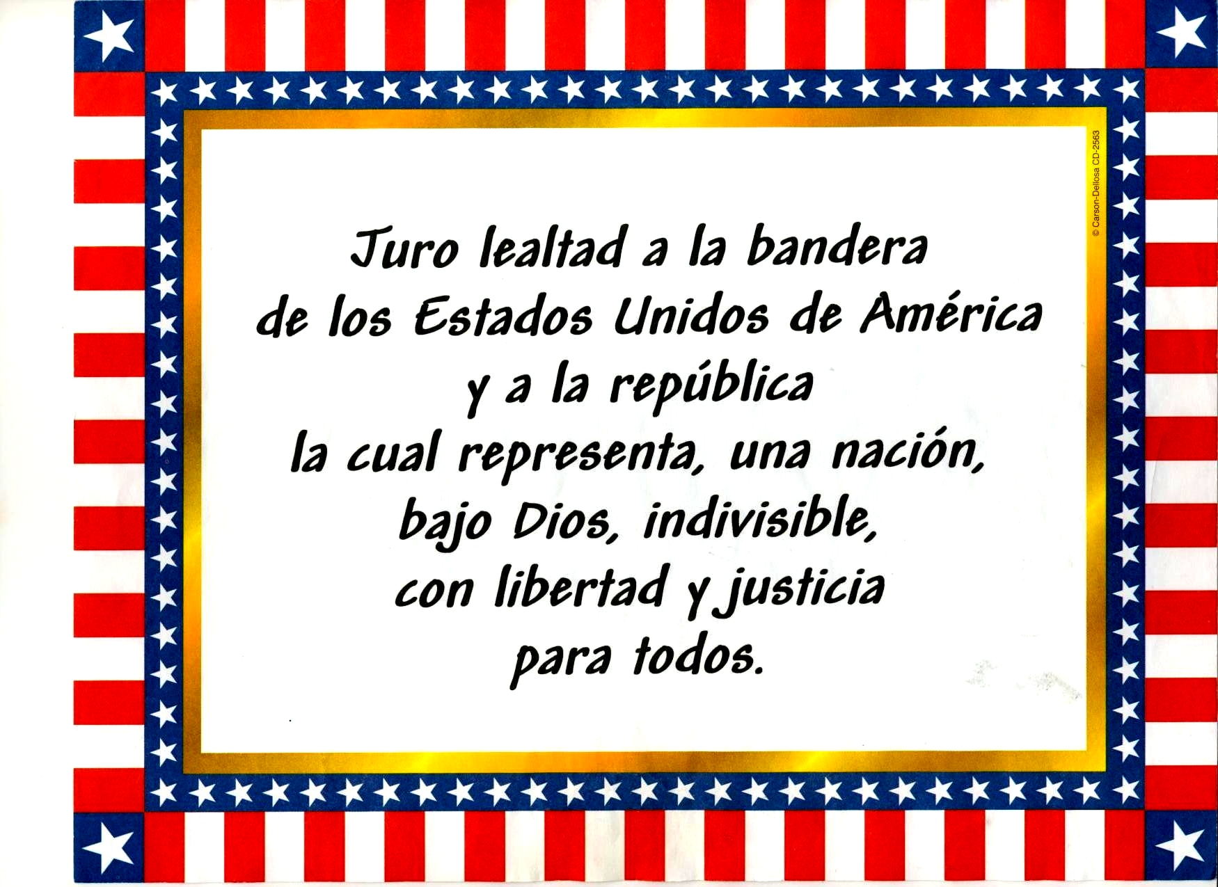 image about Pledge of Allegiance in Spanish Printable identify thsspanish / FrontPage